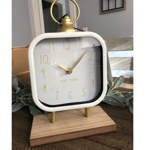 Rae Dunn Gold/White  Clock